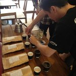 Cupping Horsham Roaster coffee