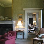 Looking through the drawing rooms towards the dining room