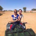 Quadbike mit Gaby