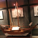 a model of a traditional dhow