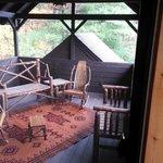 private porch in the master