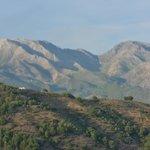 View from Cerro de Hijar towards the mountains