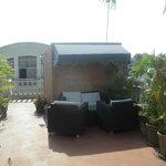 petit salon sur la terrasse