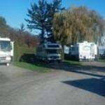 Our site in East Park, between two rigs, but plenty of room!