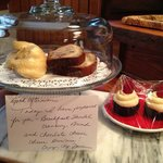 Delicious fresh baked goodies placed in our house daily, the banana cranberry bread - YUM!