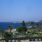 View from our balcony with Paphos harbour in the distance