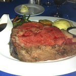 That boat of au jus remained full- the 24 oz prime rib was just fine without it!