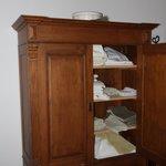 Linen storage in the guestroom