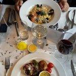 Fillet Steak and Seafood Linguini