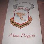 Il menù della pizza