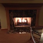 Fireplace in suite
