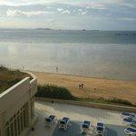 vue depuis appartement, terrasse piscine