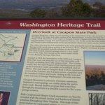 Signage for Washington Heritage Trail