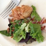 Buttermilk fried oyster salad