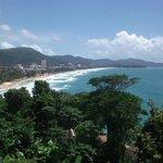 viw of karon beach from restaurant