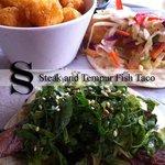 Steak and Fish Taco