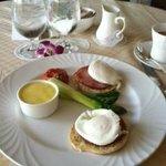 Eggs Benedict room service