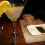 to get the ball rolling - breakfast martini and bread