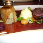 so artistic - venison steamed pudding, venison and mash