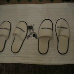 The turn down service with slippers