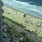 Ipanema beach from our hotel room