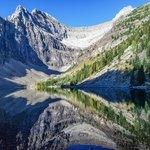 Reflection on Lake Agnes