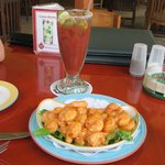 Bang Bang Shrimp & Bloody Mary.