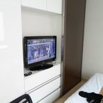 TV and walk-in wardrobe