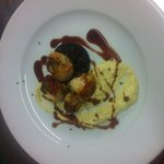 Scallops & Black pudding French Crust