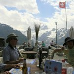 Terrace restaurant at Grosse Scheidegg.