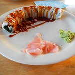 salmon cheese cucumber roll