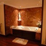 Jacuzzi pool in bathroom