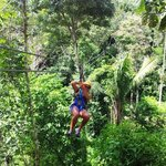 Zip lining in the jungle!