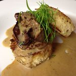 Dick livers brioche whiskey sauce