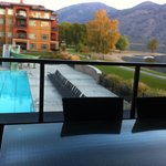 overlooking swimming pool
