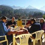 terrace having breakfast