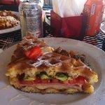 Monte Cristo breakfast sandwich.