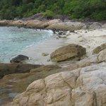 Beach cove at resort