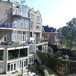 Vista do quarto dos fundos do hotel Central Park - Amsterdam.