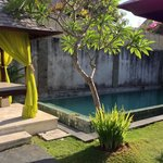 private pool & massage canopy