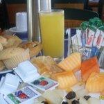 desayuno servido en el hotel