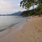 Walk in the late afternoon along the extended Beach.....two more resorts don the coast-line & th