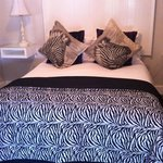 Our zebra bed!