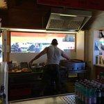 Mickey at his kiosk