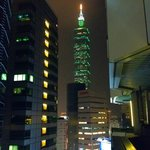 View of Taipei 101 from our 15th floor room.