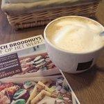 Café con leche cremoso