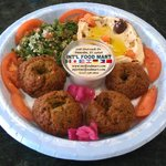 Falafel Platter with Hummus and Tabouleh