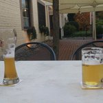 Enjoy a excellent German beer at an outside table