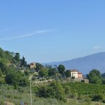View of Villa and property looking back while walking to Lucolena