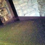 scaletta che collega sala colazioni con la camera